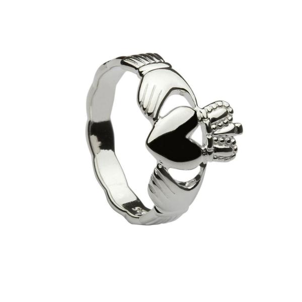 Irischer Schmuck Herren Claddagh Ring Silber 925