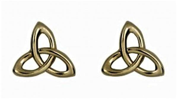 Keltische Ohrringe Trinity Knot Gold 10 Karat (416)
