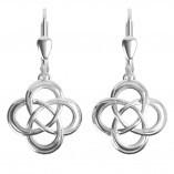 Keltische Ohrringe Trinity knot Silber 925