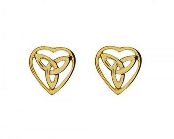 Keltische Ohrringe / Ohrstecker  Trinity Knot 10 ct. Gold 416
