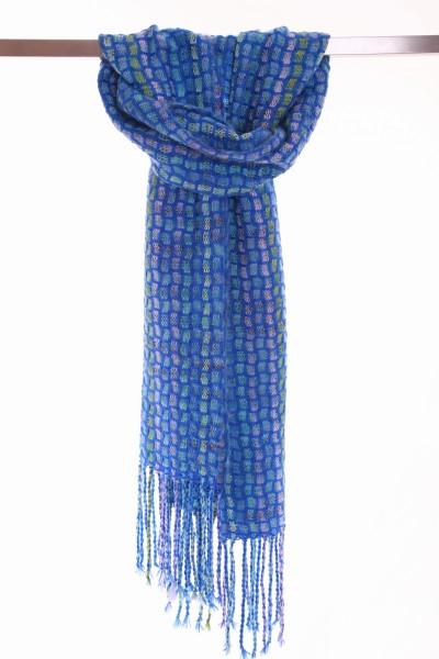 Handgefertigter Schal COBBLE Mohair und Wolle
