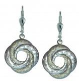 Silber 925 Ohrringe keltischer Liebesknoten