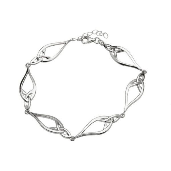 Silber 925 keltisches Armband Trnity knot mit sechs Gliedern