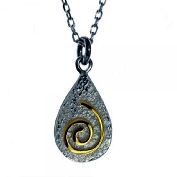 Silberkette 925  Newgrange Spirale