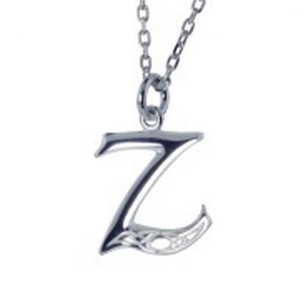 Irische Kette mit Initialien Anhänger Buchstabe Z