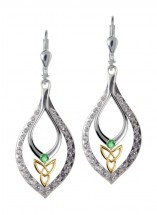 Keltische Trinity Knot Ohrringe Silber