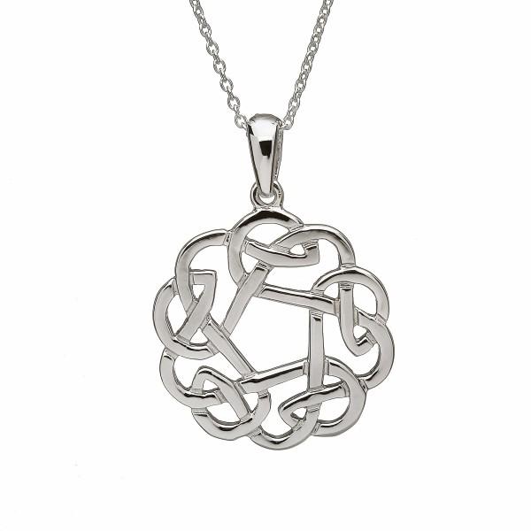 Keltischer Anhänger rund aus Silber 925