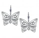 Irische Ohrringe Trinity Knot Schmetterling