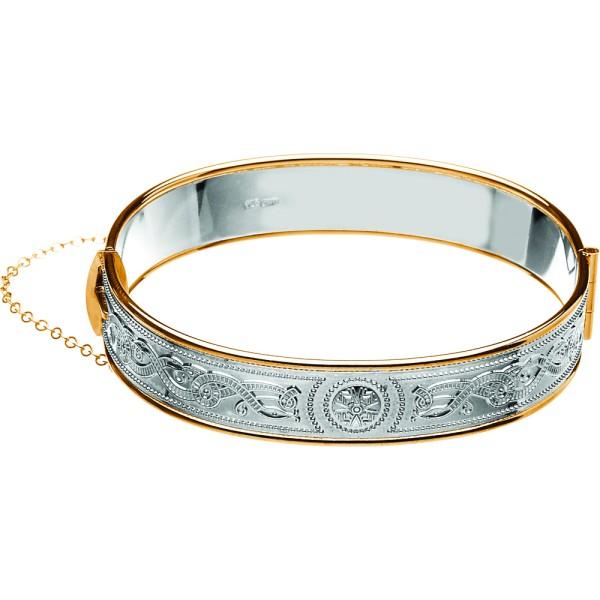 Keltischer Krieger Silber & Rolled Gold Armreif
