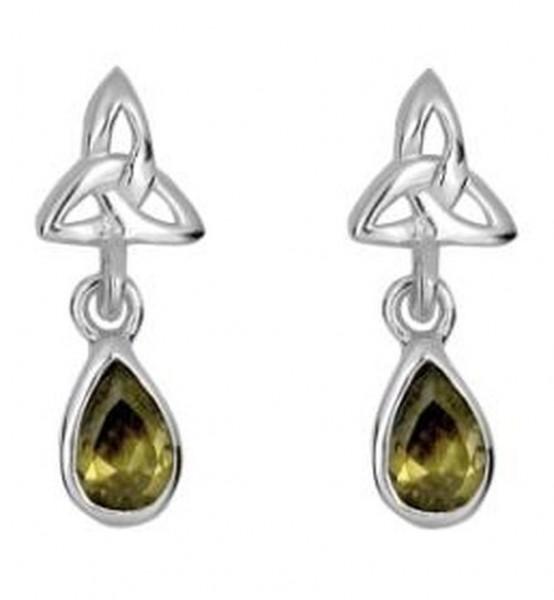 Ohrringe hängende Tropfen mit Trinity Knot Silber 925