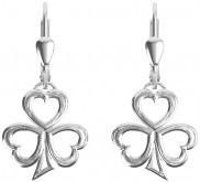 Keltische Ohrringe Kleeblatt aus Silber 925