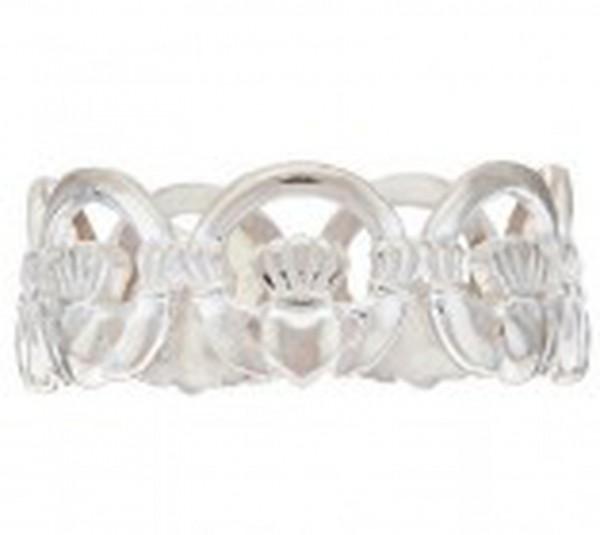 Keltischer Claddagh Ring Silber 925
