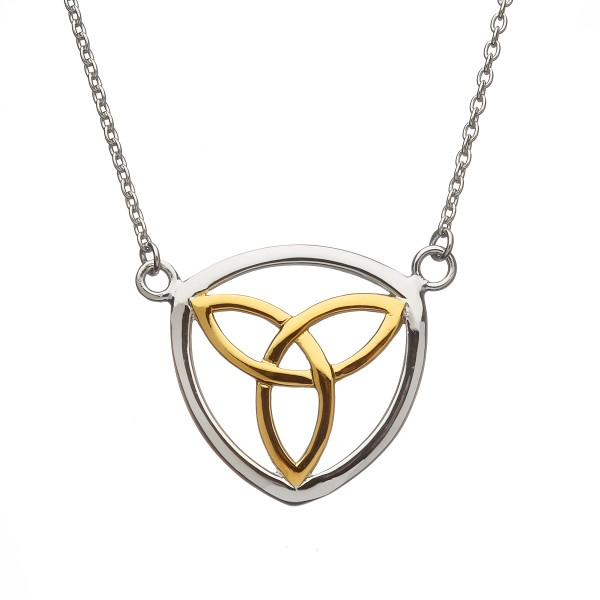 Irische Kette Trinity Knot mit vergoldetem Zentrum
