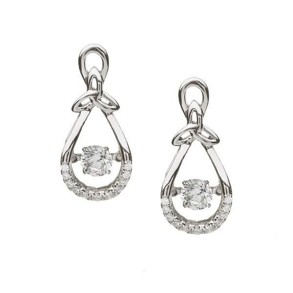 Ohrringe Keltische Knoten mit Zirkonia Damsha Kollektion