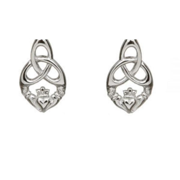 Ohrstecker Trinity Knot Silber 925 aus Irland