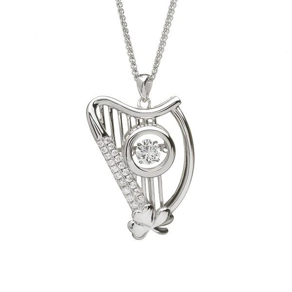 Damhsa Kollektion Anhänger Harfe Silber 925